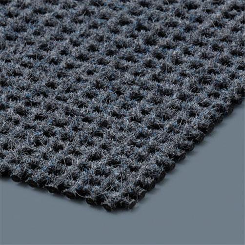 Durch die Polyamidflocken haftet die Matte optimal auf Textilien