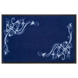 designmatte blau mit Ornamenten