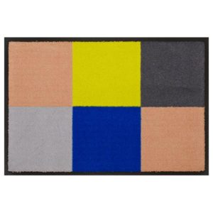 Designmatte Blau-Grün mit Quadraten