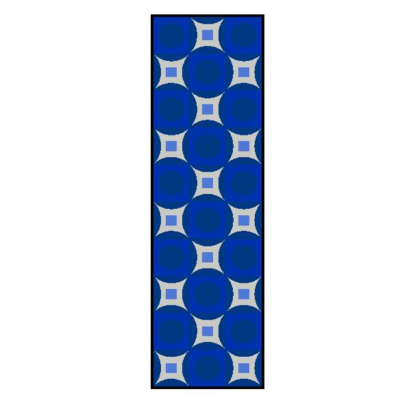 Designmatten Psychedelic blau lang
