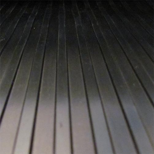 Gummiläufer breitrillen 3 mm Aufsicht von oben
