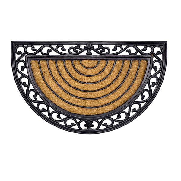 Kokos-Gummimatte Stripe halbrund