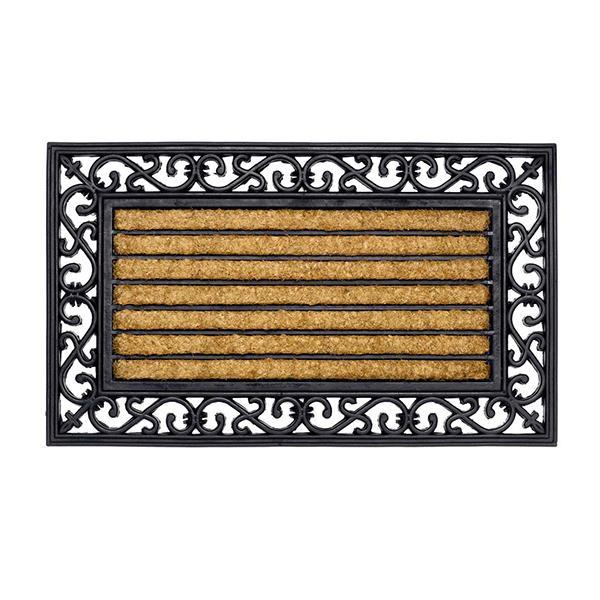 Kokos-Gummimatte Stripe rechteckig