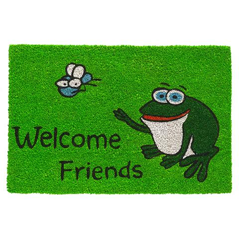 Kokosmatte Frosch welcome friends