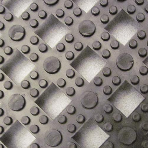 Steckfliesen Modular Lok-Tyle in Schwarz von Oben