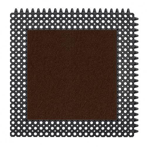 Kleinwaben Gummiplatte mit Schmutzfangfläche in Braun