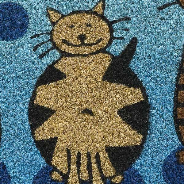 Kokoksmatte Katzen Detail