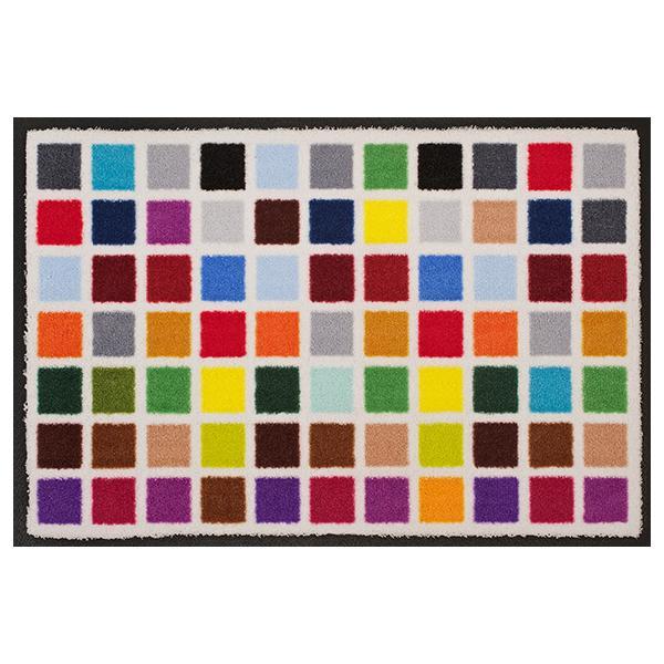 Designmatte mit Vielfalt von Farbrechtecken