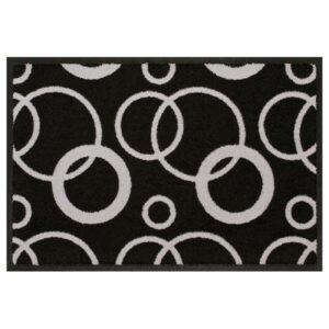 Designmatte schwarz-weiß