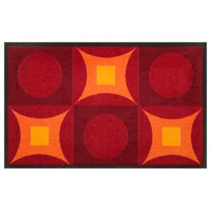 Designmatte Psychedelic rot