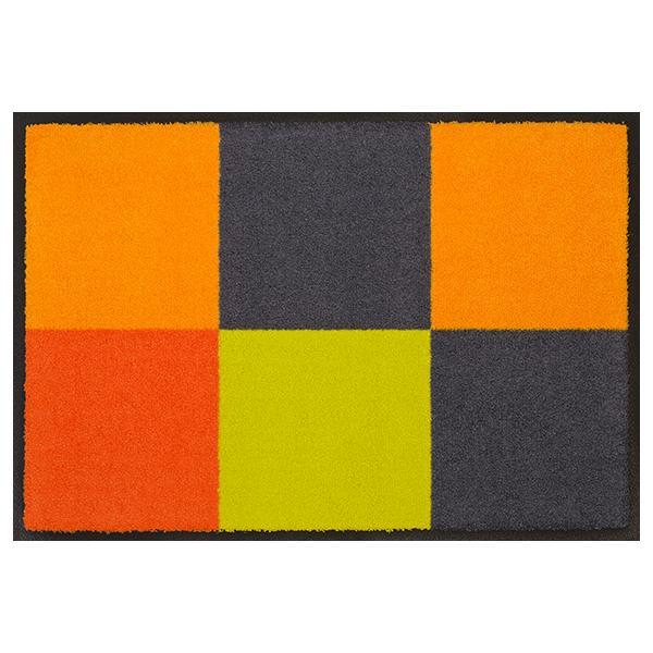 Designmatte Rechtecke orange-grau