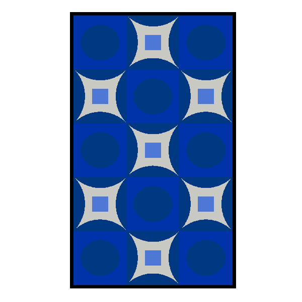Designmatten Psychedelic blau gross