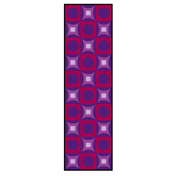 Designmatten Psychedelic lila Langformat