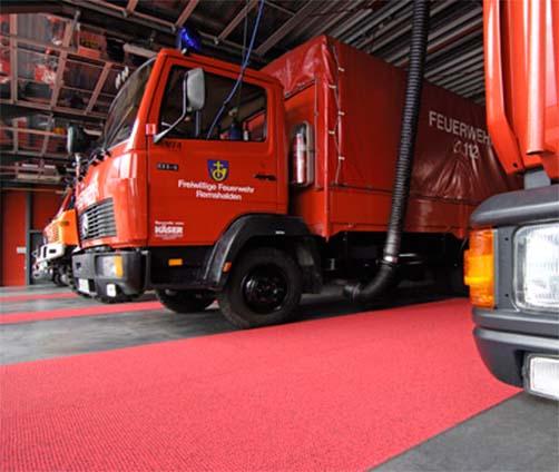 Sicherheitsmatten Arbeitsbereich Feuerwehr