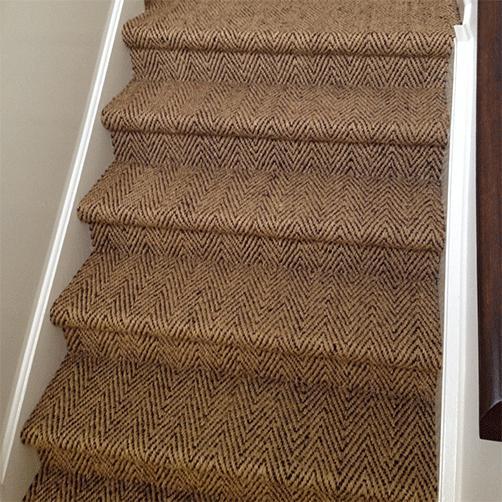 Verlegeware für Treppenstufen